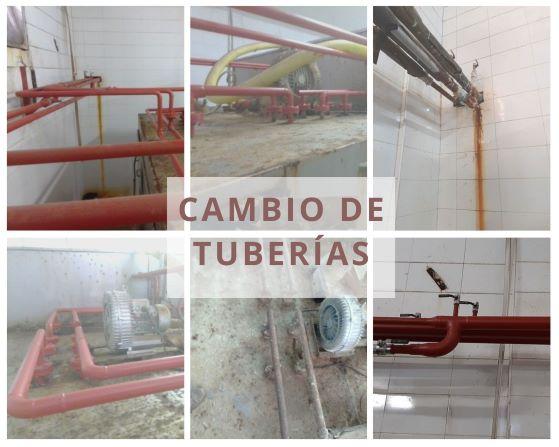 Sustitución de tubería industrial